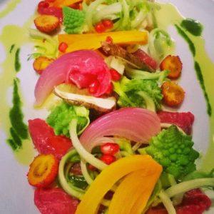 Carpaccio di Manzo con verdure croccanti